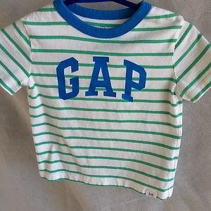 GAP logo tee blue and green striped  FREE w $20+